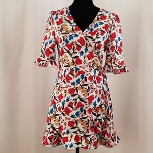 Wrap Romper in Colorful Print